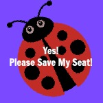 Yes Please Save my Seat button