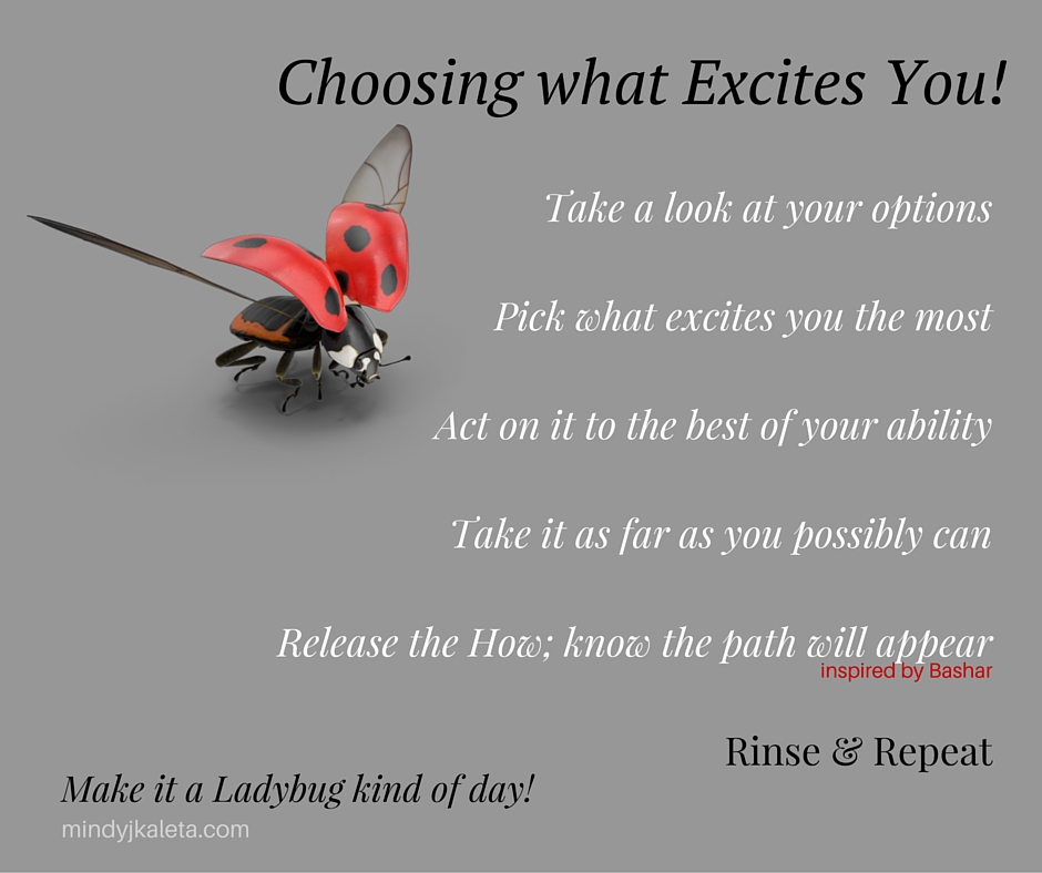 Choosing what excites you
