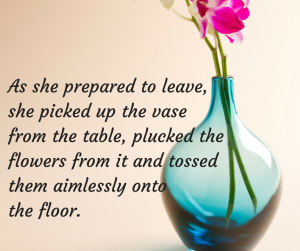 As she prepared to leave, she picked up