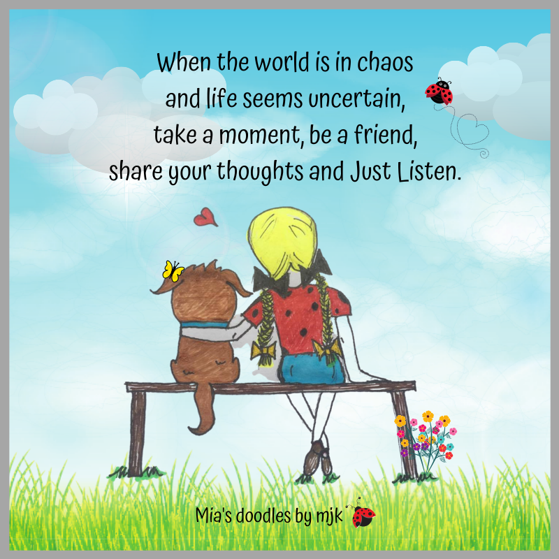 when the world is in chaos…